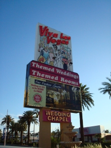 Sign at the Viva Las Vegas Wedding Chapel