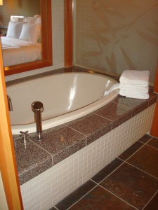 Soaking tub at Willows Lodge