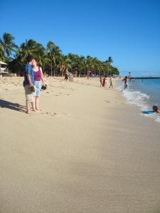 Andrew & Catherine on Waikiki Beach