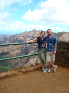 Andrew & Catherine at Waimea Canyon
