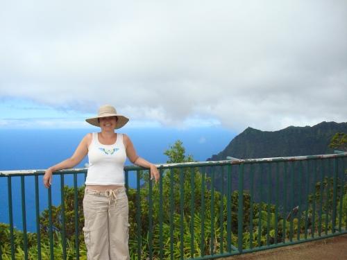 Liz Hamill on the Na Pali Coast of Kauai