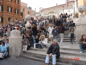 Rome's famed Spanish Steps, photo (c) Eustaquio Santimano