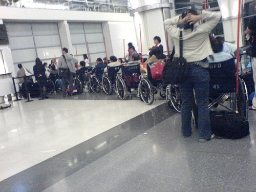 Wheelchairs at SFO